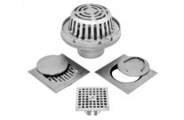 Chrome plated & stainless steel drains
